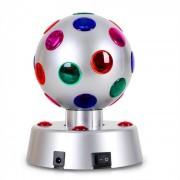 4-S Disco Ball 13,5cm Efeitos de luz LED prateado