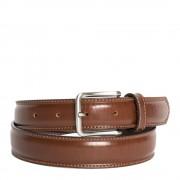 Made In Italy Cintura Uomo in Pelle di Vitello Spazzolato Marrone 3,5cm