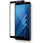 Samsung Galaxy A8 Plus (2018) 5D Black Tempered Glass Standard Quality