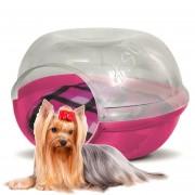 Casa Pet Cave Gato Perro Mascotas Plast Pet Chica Snow Rosa