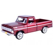 1969 Ford F-100 Pickup Truck Burgundy 1/24 by Motormax 79315