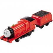 Trenulet Locomotiva James Motorizata cu Vagon Thomas&Friends Track Master