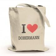I Love Dobermann Tygpåse