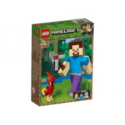 LEGO R Minecraft - Steve Minecraft BigFig cu papagal