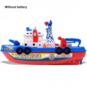 Childrens Electric High Speed Music Light Boat Marine Rescue Model Water Jet Fireboat Toys Educational Creative Bath Toys