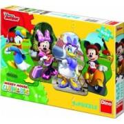 Puzzle 4 in 1 - Mickey si prietenii 54 piese