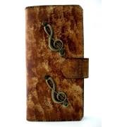 MP Case® Echt leer mystiek look met magneetsluiting Book case voor Apple iPhone 7 Plus / 8 Plus muziek figuur hoesje Echte lederen echt leder Premium Leer