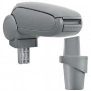 PremiumXL - [pro.tec] Naslon za ruke – specifičan za VW Touran / VW Caddy - naslon za ruke za auto - sa pretincem - tkanina - siva