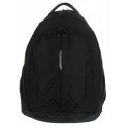 3 rekeszes fekete textil hátizsák Adventurer