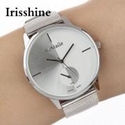 Irisshine B08 Luxury Fashion Men Casual Analog Stainless Steel Quartz Wrist Watch men watches Gift Wholesale free shipping