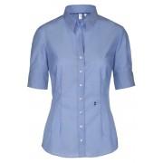 Seidensticker Slim Fit Bluse Kurzarm blau, Einfarbig