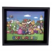 Cuadro Lenticular Super Mario Cast Nintendo 3d Decorativo