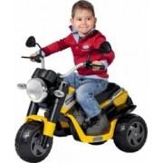 Tricicleta Electrica pentru Copii Peg Perego Ducati Scrambler 6V Galben-Megru