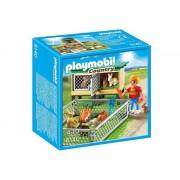 Playmobil recinto dei conigli con gabbia coperta 6140
