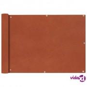 vidaXL Balkonska Zaštita od Oxford Tkanine u Boji Terakote 75x600 cm