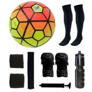 Combo of Ordem Orange/Yellow Football (Size-5) & Kit of 5 Other items