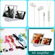 Combo Of Phone Magnifier + Universal Head phones