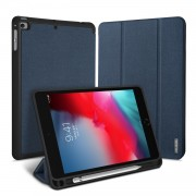 DUX DUCIS Domo Series Business Style Tri-fold Stand Smart Leather Case for Apple iPad mini (2019) 7.9 inch - Blue