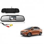 4.3 Inch Rear View TFT LCD Monitor Mirror Screen Display For Reverse Parking and Rear View For Tata Tigor