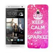 Husa HTC One Mini Silicon Gel Tpu Model Keep Calm Sparkle