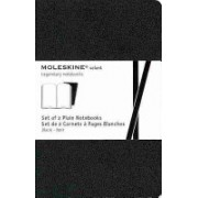 Moleskine Volant Notebook (Set of 2 ), Pocket, Plain, Black, Soft Cover (3.5 X 5.5) (Moleskine)(Notebook / blank book) (9788867320493)