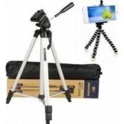 Pachet Trepied foto telescopic Weifeng WF-330A universal 51-134 cm + Trepied flexibil cu suport pentru telefon mobil sau aparat foto Pufo