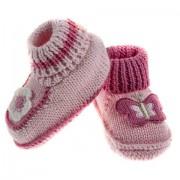 Botosei tricotati roz bebelusi