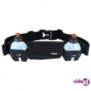 Avento Pojas za trčanje s 2 mjesta za boce crni 21OK