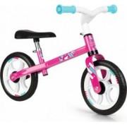 Bicicleta fara pedale Smoby First Bike Roz