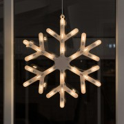 Snowflake window decoration with LEDs