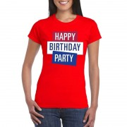 Toppers official merchandise Rood Toppers Happy Birthday party dames t-shirt officieel