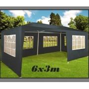 Zahradní párty stan DEU šedý, 3 x 6 m