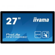 iiyama 27' PCAP Bezel Free 10-Points Touch Screen, 1920x1080, AMVA3 panel, DVI, HDMI, DisplayPort, 255cd/m² (with touch), 3000:1, 5ms, Landscape, Portrait or Table mount, USB Touch Interface, VESA 200