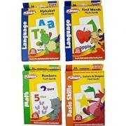 Playskool Flash Cards Math Basic Skills And Language Bundle Of 4