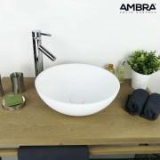 Ambra Vasque à poser ronde 40 cm en Solid surface - Boléa