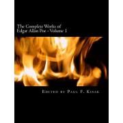 The Complete Works of Edgar Allen Poe: Volume 1, Paperback/Edited by Paul F. Kisak