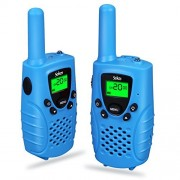 Sokos Walkie Talkies for Kids, 2-Way Radios Rechargeable 3 Miles (up to 5 Miles) FRS/GMRS Handheld Mini Walky Talky (Blue)
