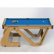 Riley 6ft Vertically Folding Pool Table with Darts Board