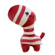 Plush Toys, Cute Zebra Plush Stuffed Animal Toy (Wine Red)