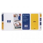 ORIGINAL HP Testina per stampa giallo C4823A 80 incl. depuratore