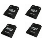 YTM Ytm 4 Pcs MicroSD to SD SDHC Memory Card Adapter Converter Jack (Black) 64 GB MicroSD Card Class 10 95 Memory Card