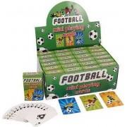 Uitdeelcadeautjes - Mini Speelkaarten - Model: Voetbal in Display (24 stuks)