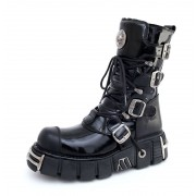 stivali in pelle - Bizarre Boots (313-S1) Black - NEW ROCK - M.313-S1
