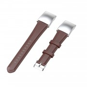 Oil Wax Genuine Leather Smart Watch Band Watchband Strap Replacement with Buckle for Huawei Honor 5 / Honor 4 ENC CRS-B19 CRS-B19S - Light Brown
