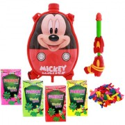 Holi Water Pichkari BACK PACK CARTOON Tank Squirter F22 With TOTA Gulal Ballloons Assorted Color