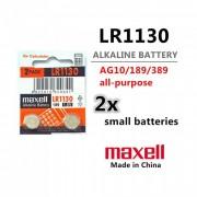 MAXELL LR-1130 /LR-54; AG10; 189/ - 1.5V / 70 mAh