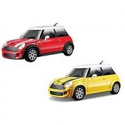 Macchinina modellino auto mini cooper s bburago 22124 mac 2 giallo rosso assortiti (no scelta)