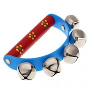 HATCHMATIC New Musical Toy for KTV Kids Little Hand Held Bell Metal Jingles Ball: Blue