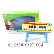 Пианино 16 клавиш, свет, звук, ноты, батарейки в комплект не входят, в коробке