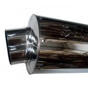 Escape Oval CBX-250 Twister Cromado Com Ponteira 8 Fortuna